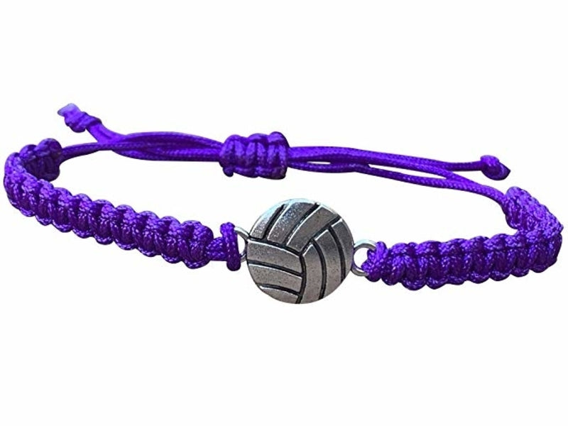 Volleyball Rope Bracelet - Purple