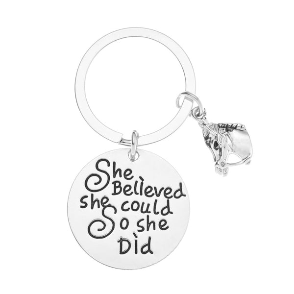 Horse She Believed She Could So She Did Keychain