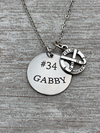 Engraved Field Hockey Necklace