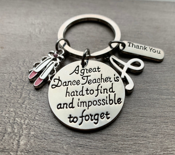 Personalized Ballet Dance Great Teacher is Hard to Find Keychain