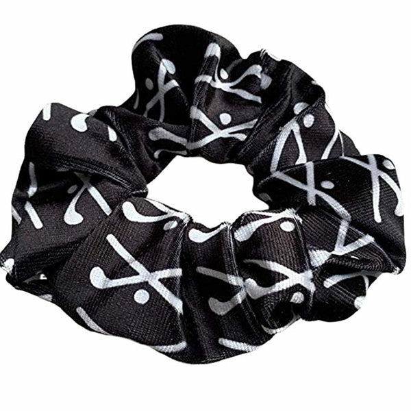Field Hockey Premium Velvet Scrunchie