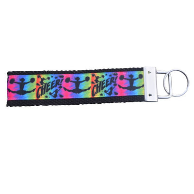 Girls Cheer Wristlet Keychain- Multi Colored - Sportybella