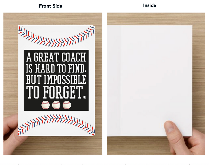 Baseball Coach Card - Sportybella