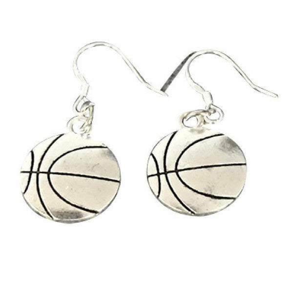 Basketball Charm Dangle Earrings - Sportybella