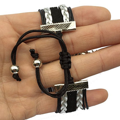 Music Note Charm Bracelet - Black