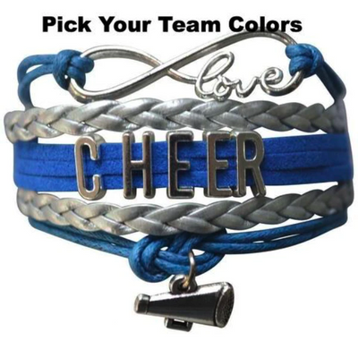 girls cheer bracelets, cheerleading gifts