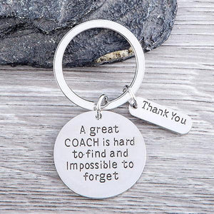 Great Coach is Hard to Find Coach Keychain - Sportybella