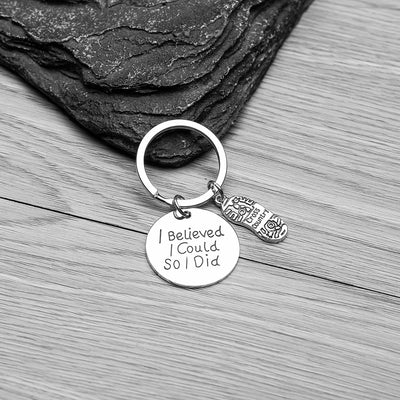 Cross Country Keychain- I Believed I Could So I Did - Sportybella
