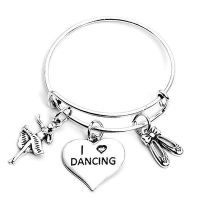 Girls Dance Bangle Bracelet - Sportybella