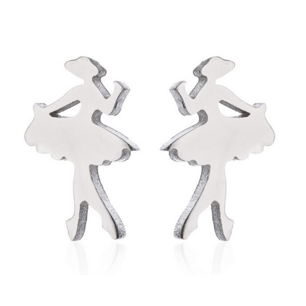 girls Dance Stud Earrings