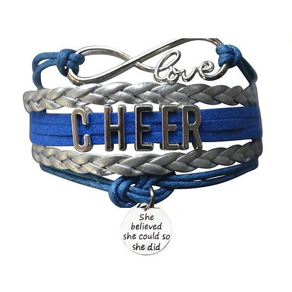 Cheer She Believed She Could Bracelet - 19 Team Colors