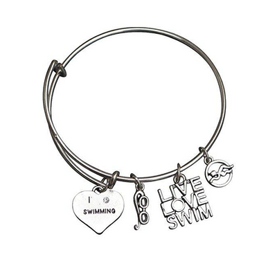 Girls Swim Bangle Bracelet