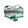 Cheer Charm Bracelet - 21 Team Colors Available - Sportybella