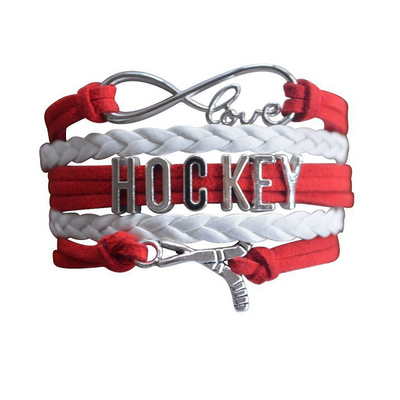 Girls Ice Hockey Infinity Bracelet for Hockey Players - Sportybella