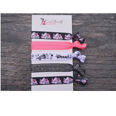 Cheer Hair Ties- Pink - Sportybella