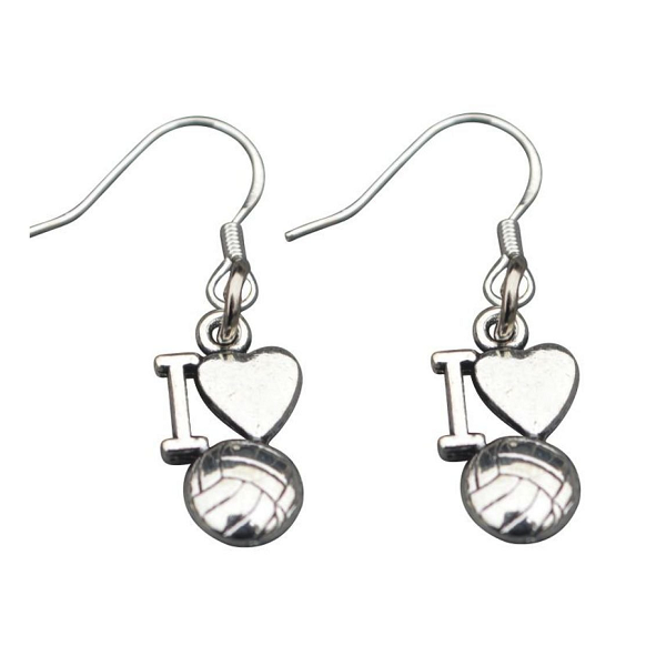 Love Volleyball Earrings - Sportybella