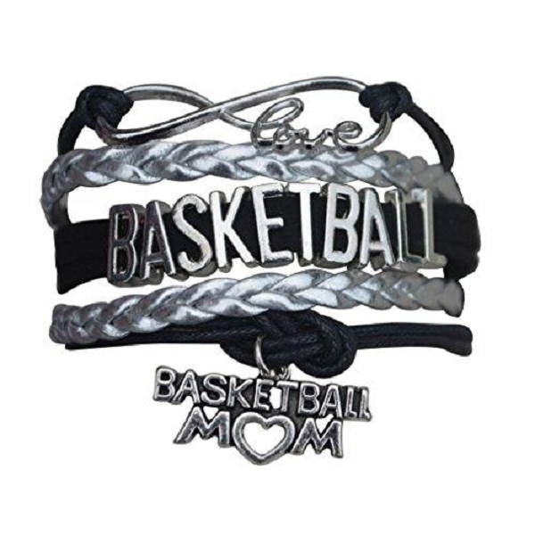 Basketball Mom Bracelet - Black Silver - Sportybella