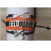 Field Hockey Infinity Bracelet-Orange & Black - Sportybella