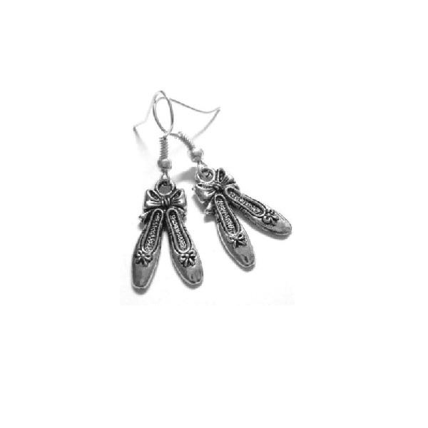 Girls Dance Ballet Shoe Earrings - Sportybella