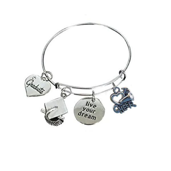 Cheer Graduation Bangle Bracelet - Sportybella