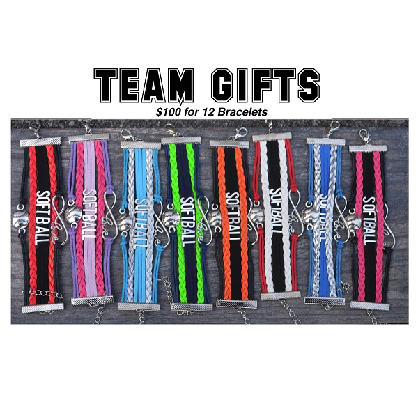 Softball Bracelet Team Gift Bundle- 19 Team Colors