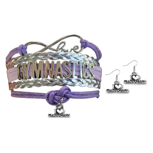 Gymnastics Jewelry Set ( Bracelet & Earrings) - Sportybella