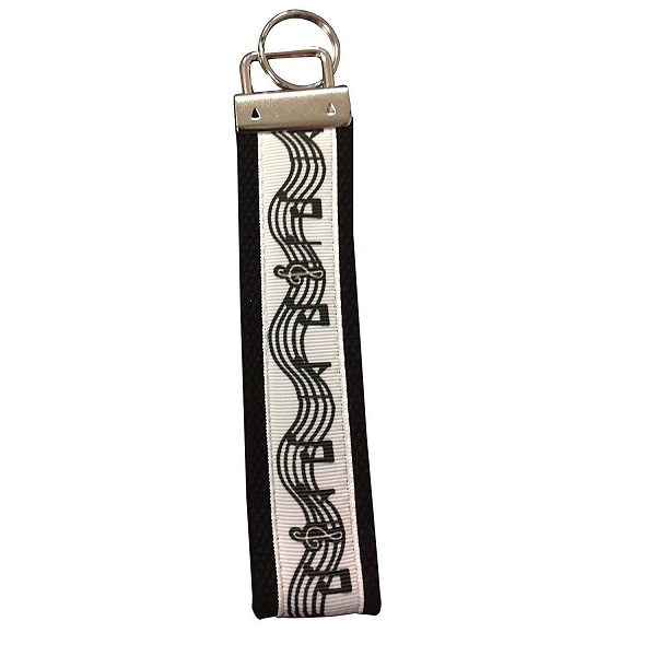 Music Keychain - Musically Keychain- Music Gift - Treble Clef Jewelry - Music Note Keychain