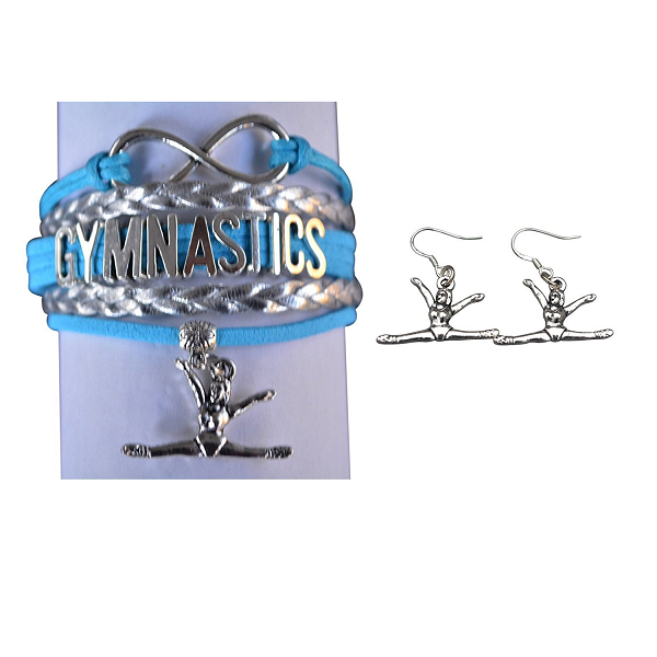 Gymnastics Jewelry Set ( Bracelet & Earrings)
