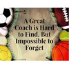 Personalized Gymnastics Great Coach is Hard to Find But Impossible to Forget Keychain