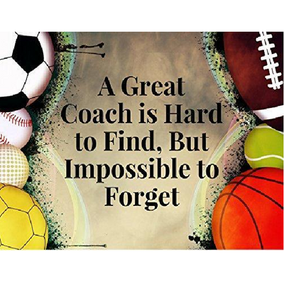 Great Coach is Hard to Find But Impossible to Forget Keychain - Pick Team Colors
