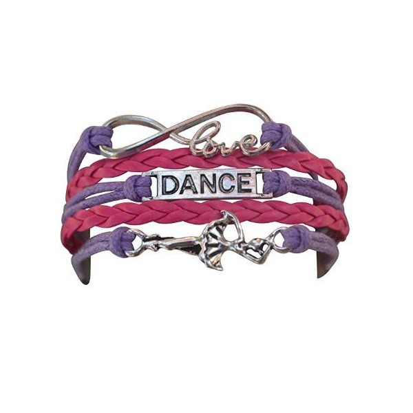 Girls Dance Infinity Bracelet Pink & Purple - Sportybella