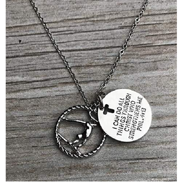Gymnastics I Can Do All Things Through Christ Who Strengthens Necklace