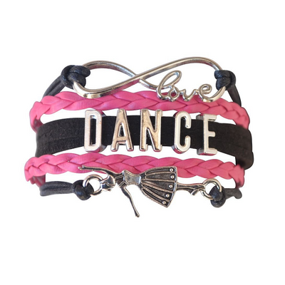 Girls Dance Infinity Bracelet- 3 Sizes - Sportybella