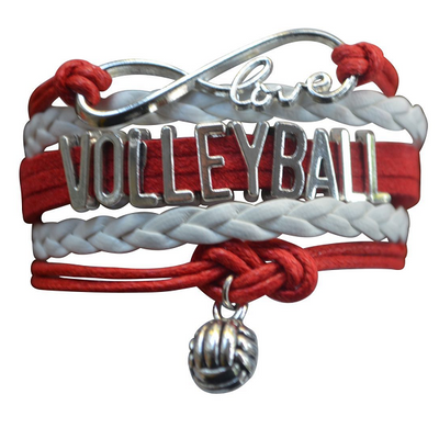 Girls Volleyball Infinity Bracelet-15 Team Colors
