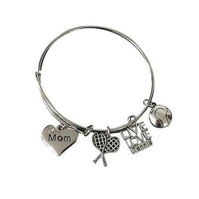 Tennis Mom Bangle Bracelet - Sportybella