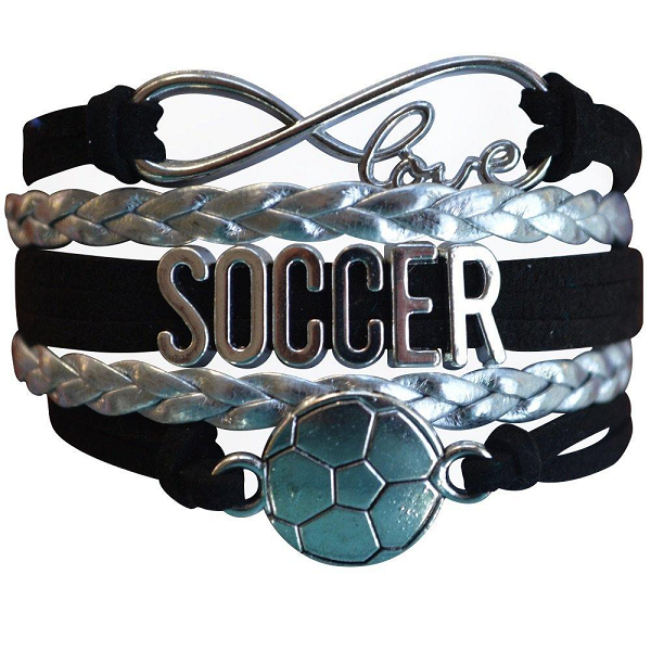 Girls Soccer Bracelet - 12 Team Colors - Sportybella