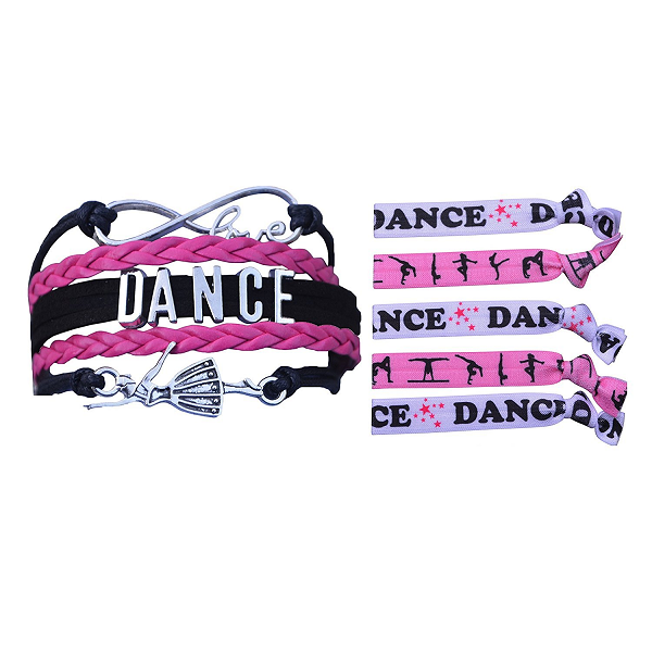 Girls Infinity Dance Gift Set (Bracelet & Hair Ties) - Sportybella