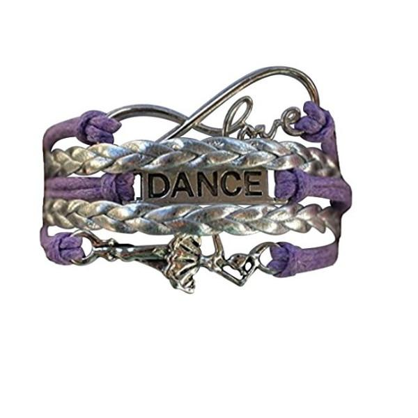 Girls Dance Infinity Bracelet- Purple - Sportybella