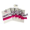 Gymnastics Hair Ties - 5 pack - Fuschia White