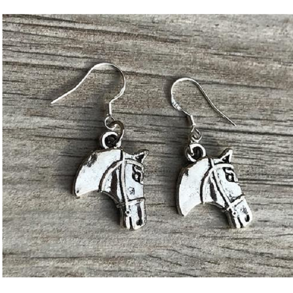 Horse Head Charm Earrings