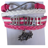 Infinity Softball Mom Bracelet