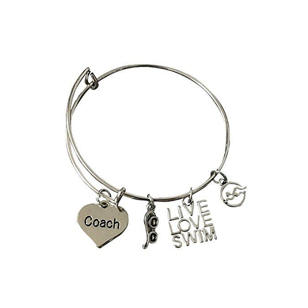 Swim Coach Bangle Bracelet