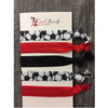 Soccer Hair Ties -Red