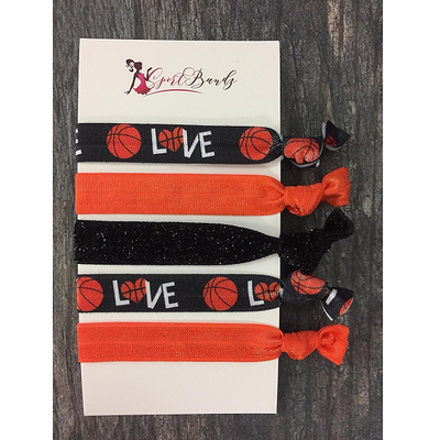 Basketball Hair Ties - Sportybella