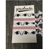 Graduation Baseball Hair Ties
