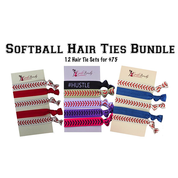 Softball Team Gifts- Hair Ties Sets