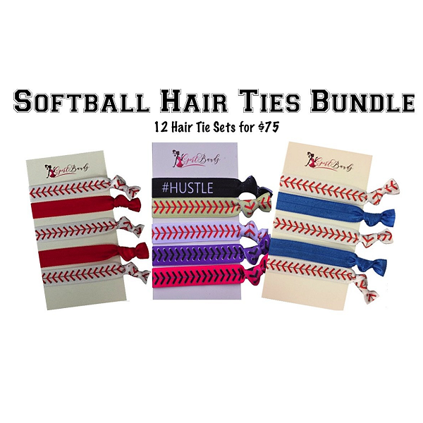 Softball Team Gifts- Hair Ties Sets - Sportybella