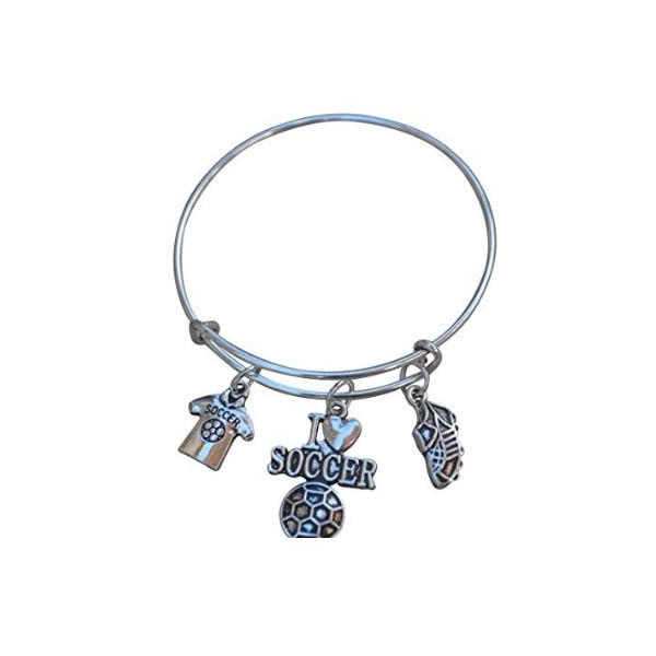 Soccer Bangle Bracelet