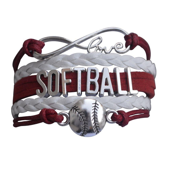 Softball Bracelet-Maroon