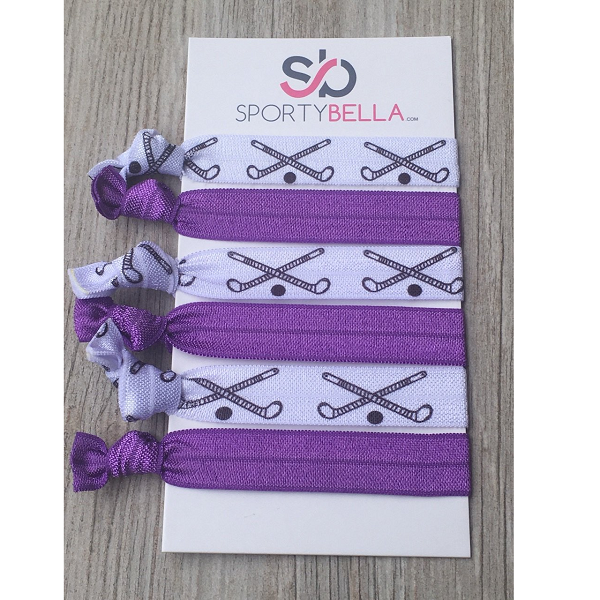 Field Hockey Hair Accessories -Purple - Sportybella